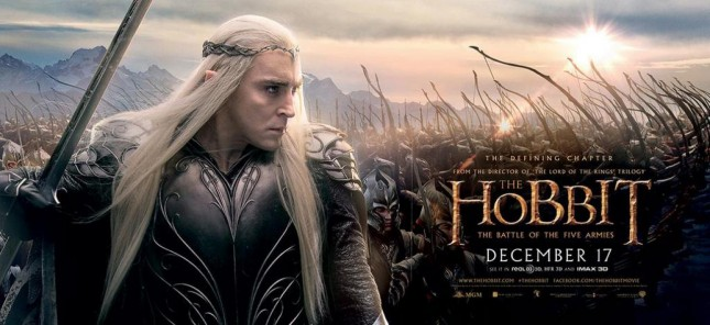 hobbit batalla cinco ejercitos thranduil