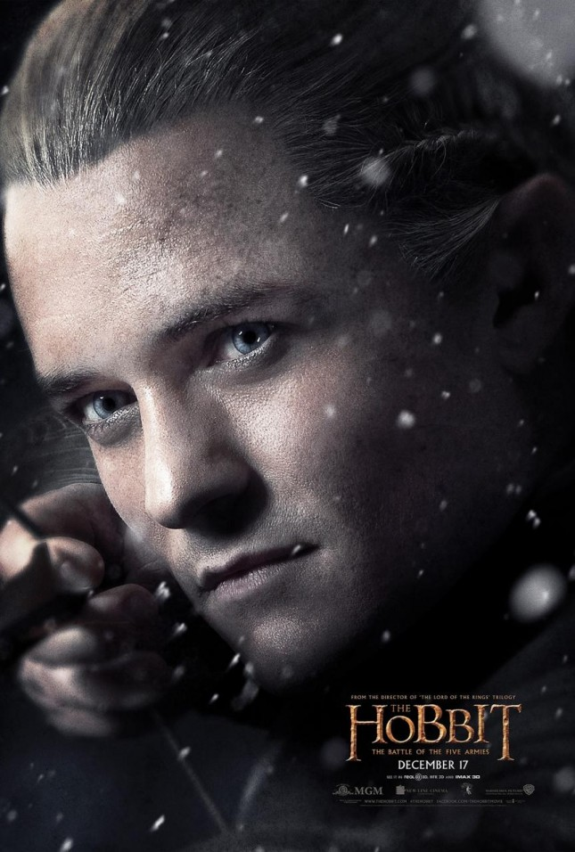 hobbit batalla cinco ejercitos orlando bloom legolas