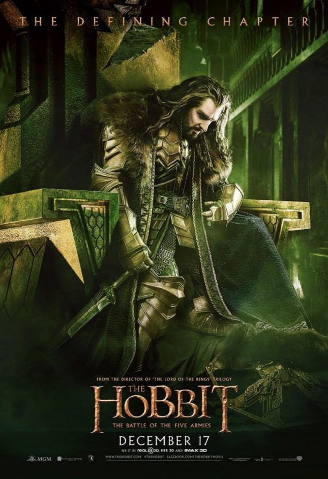 hobbit batalla cinco ejercitos thorin trono