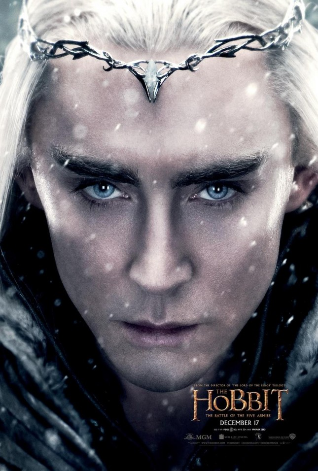 hobbit batalla cinco ejercitos lee pace thranduil