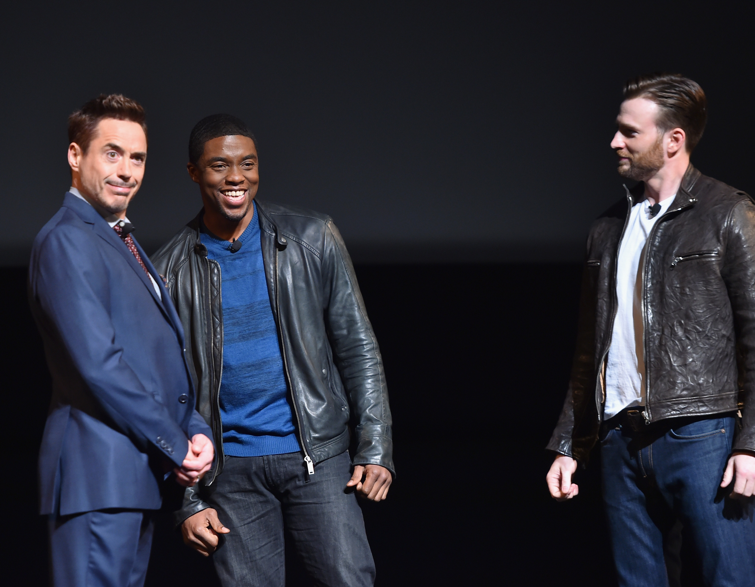 marvel studios fan event evans downey boseman