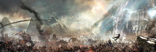 batalla arte conceptual los cinco ejercitos el hobbit