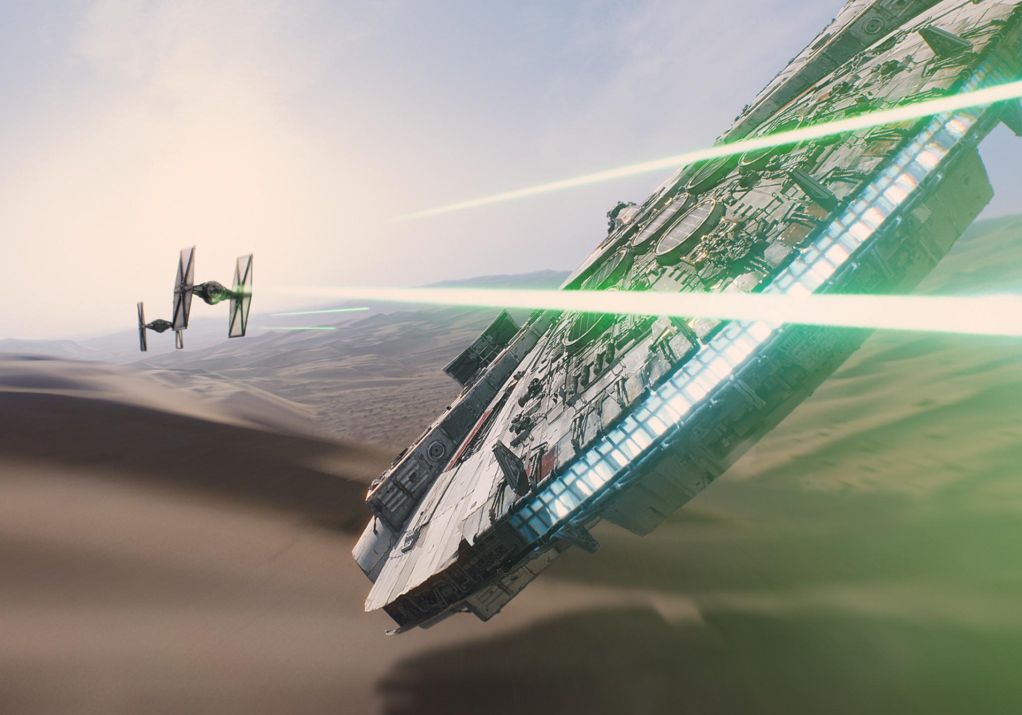 halcon milenario star wars despertar de la fuerza