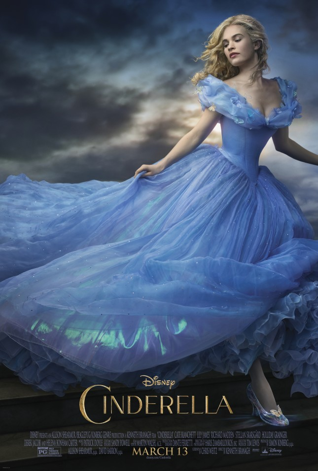cenicienta lily james poster