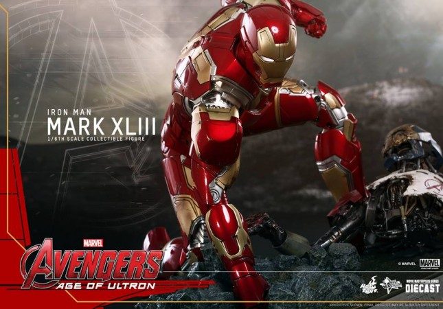 juguete armadura iron man mark 43 era ultron