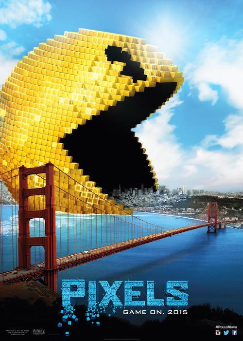 pixels pacman poster