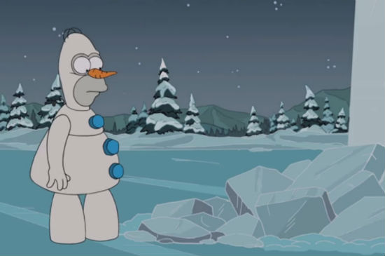 simpsons frozen parody