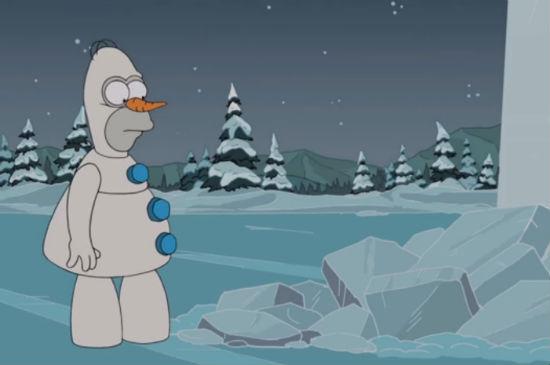 simpsons frozen parody