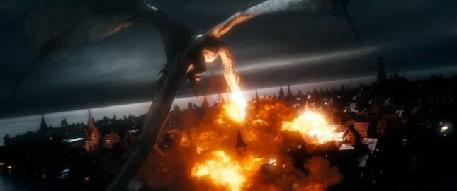 smaug hobbit batalla cinco ejercitos