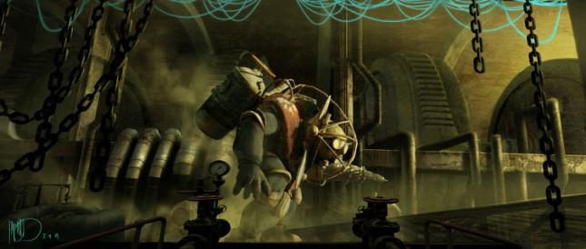 arte conceptual pelicula bioshock
