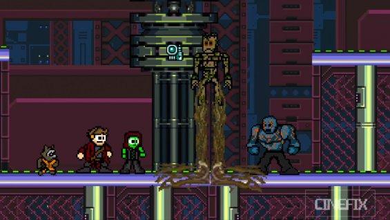 guardianes de la galaxia 8 bit
