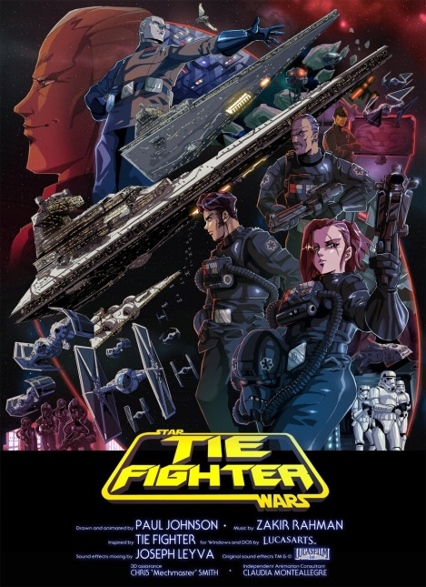 poster star wars tie fighter anime