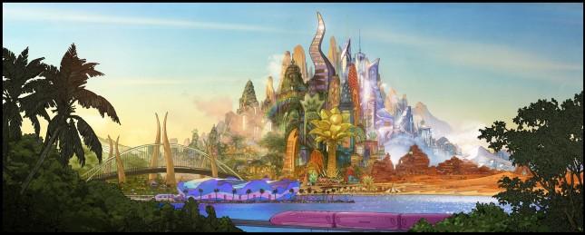zootopia arte conceptual ciudad