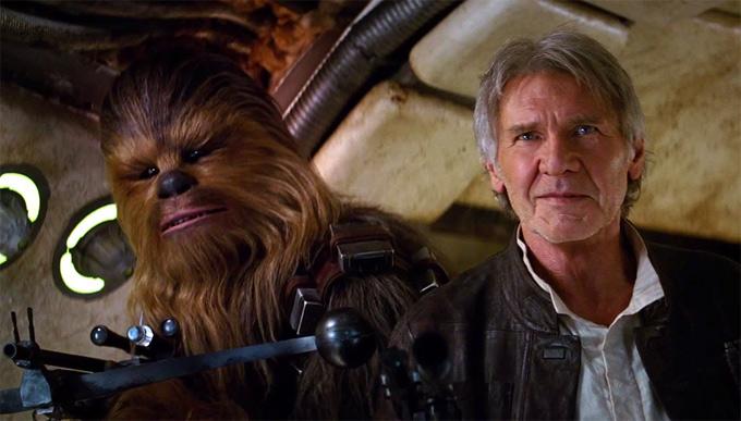 chewie han solo despertar de la fuerza star wars
