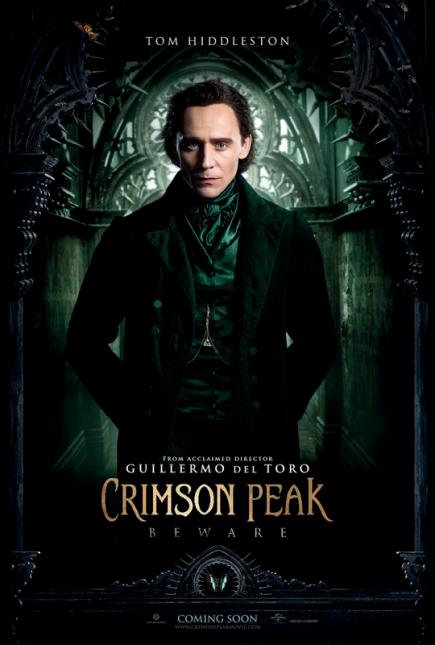 cumbre escarlata poster tom hiddleston