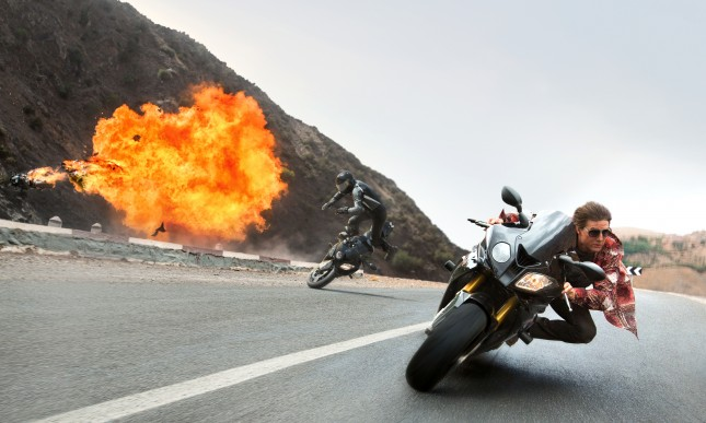 tom cruise mision imposible nacion secreta moto