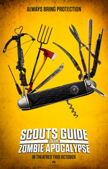 scouts guide zombie apocalypse poster