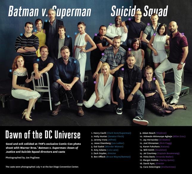 elenco batman v superman suicide squad superfoto