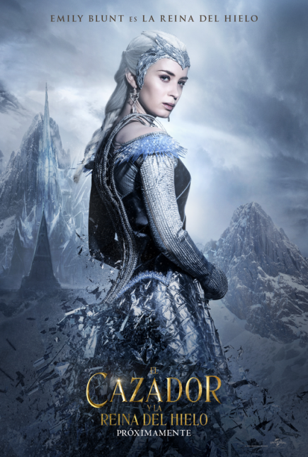 cazador reina de hielo poster emily blunt