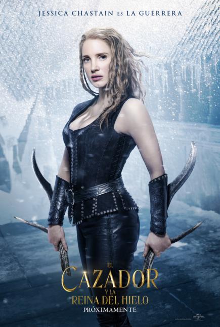 cazador reina de hielo poster jessica chastain
