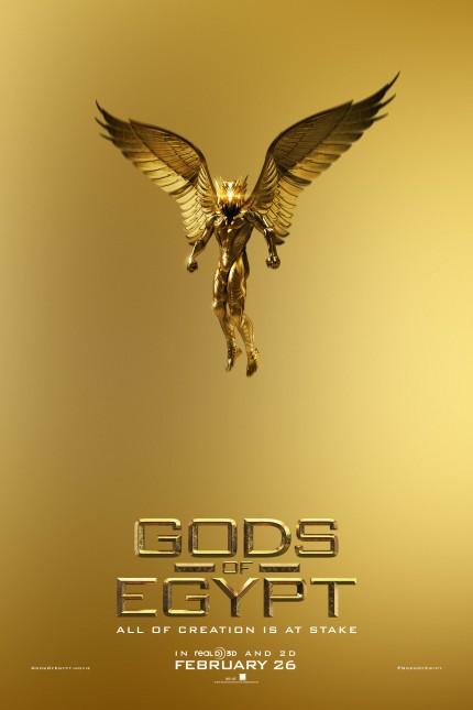 dioses de egipto poster oro