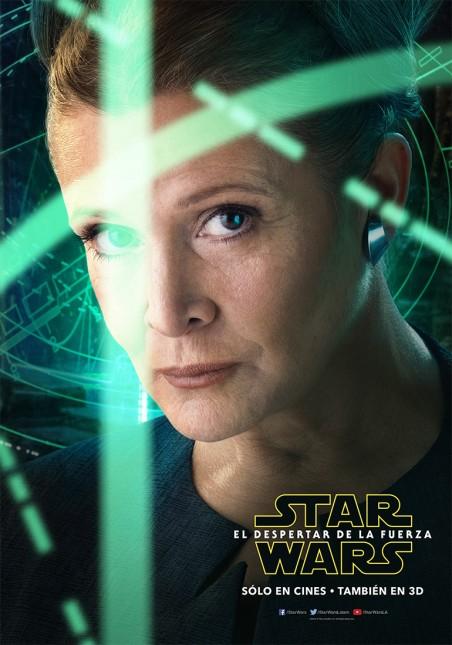 star wars poster despertar fuerza princesa leia