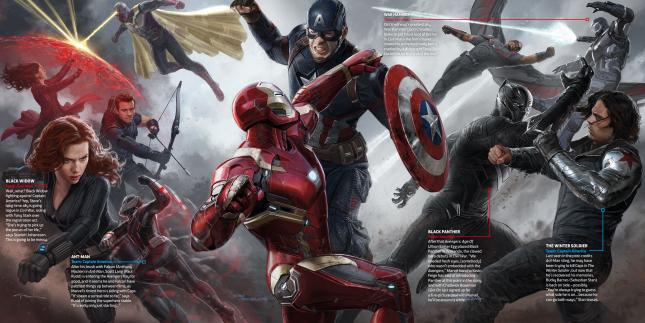 arte conceptual capitan america civil war