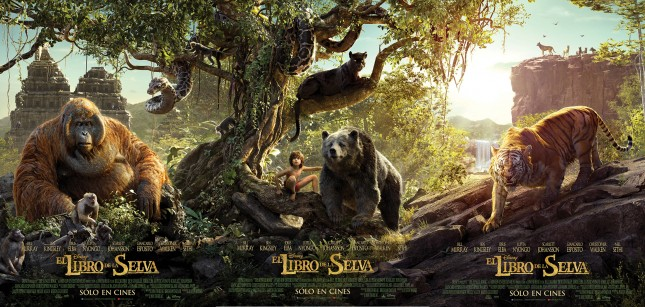 el libro de la selva poster triptico