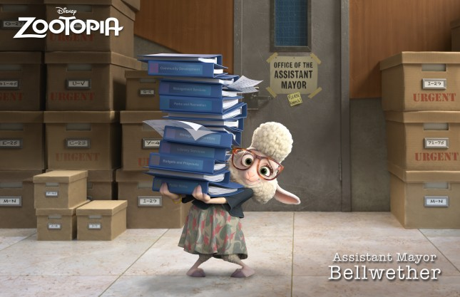 ZOOTOPIA ASSISTANT MAYOR BELLWETHER