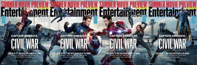 portadas completas ew capitan america civil war