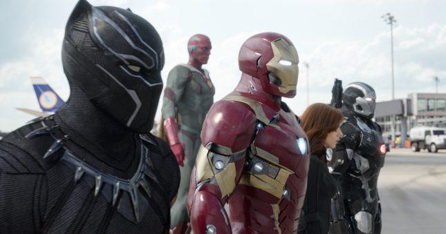 capitan america team iron man civil war