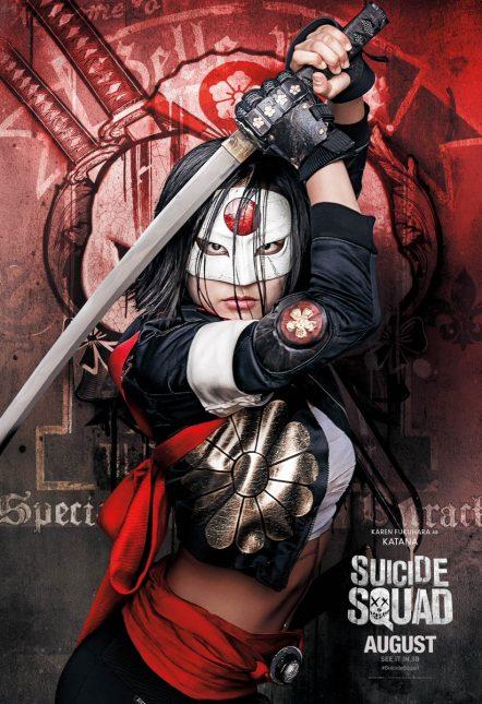 katana karen fukuhara poster escuadron suicida