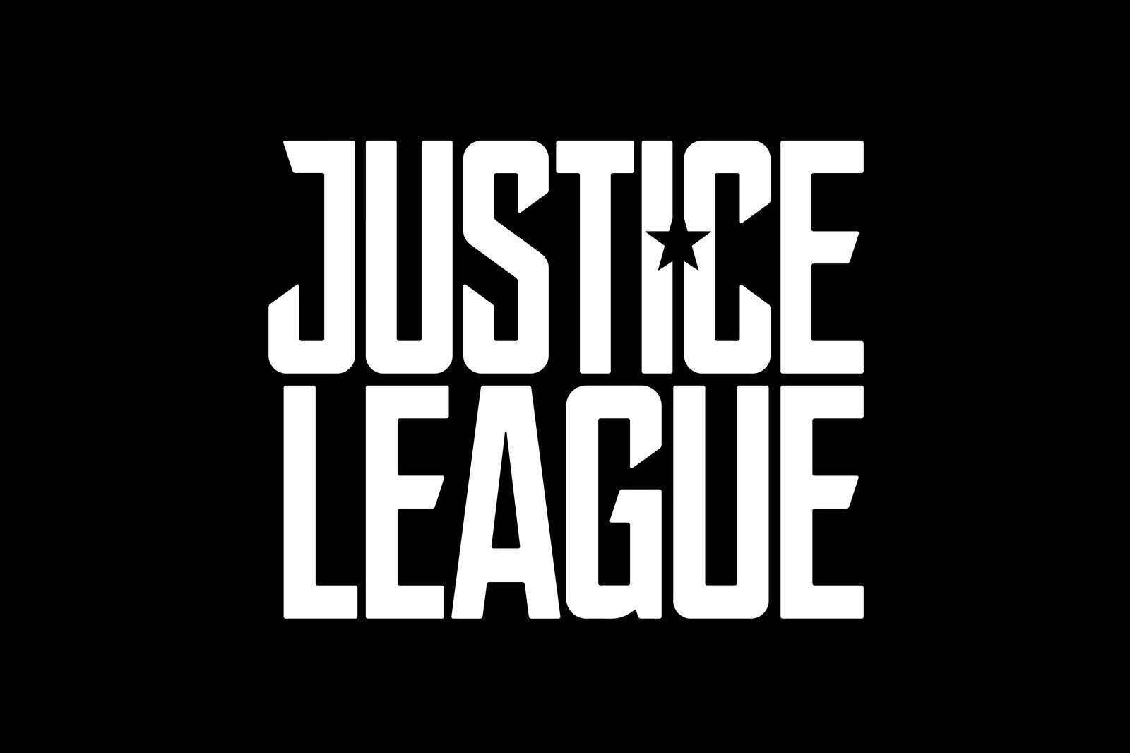 logo negro liga de la justicia