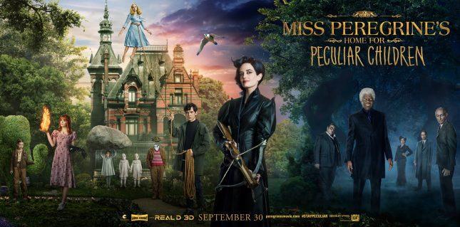 miss peregrine niños peculiares poster banner
