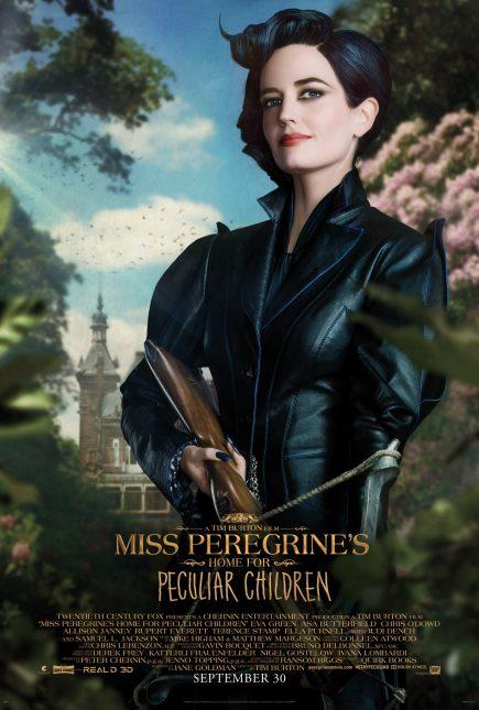 miss peregrine niños peculiares poster eva green