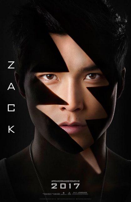 zack ranger negro poster power rangers
