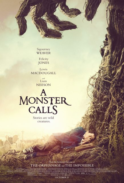 un monstruo viene a verme poster
