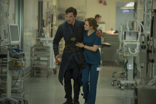 Doctor Strange: Benedict Cumberbatch y Rachel McAdams