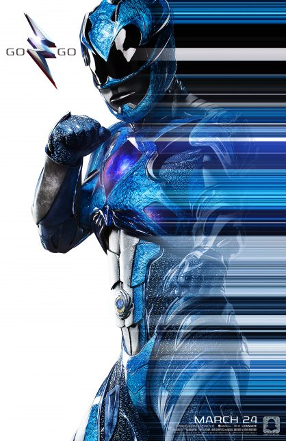 power rangers poster azul