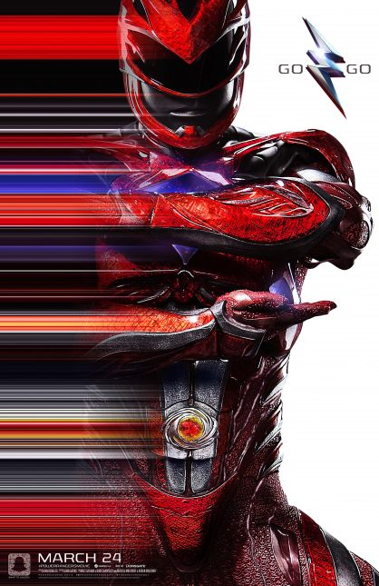 power rangers poster rojo