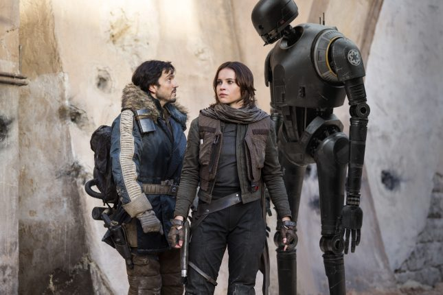 cassian andor jyn erso k2so rogue one