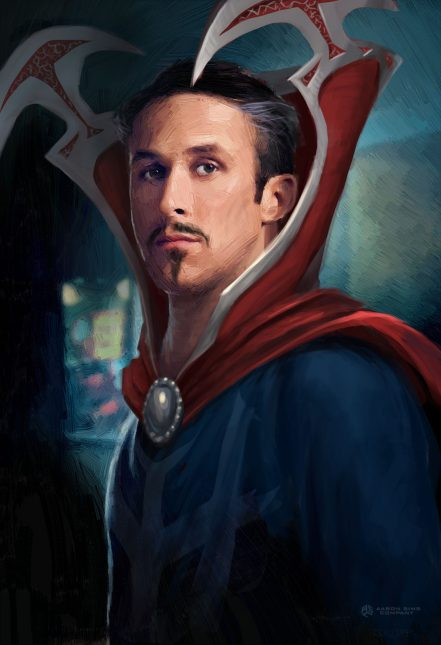 ryan gosling doctor strange concept