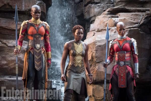 black-panther-movie-danai-gurira-lupita-nyongo-florence-kasumba-ew-600x400