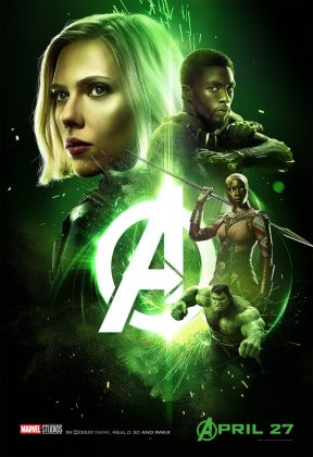 avengers infinity war poster black widow black panther 288x420 - Los Personajes de Avengers: Infinity War