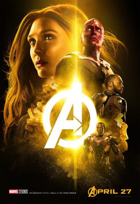 avengers infinity war poster scarlett witch vision 288x420 - Los Personajes de Avengers: Infinity War