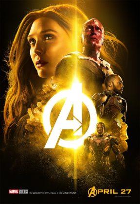 avengers infinity war poster scarlett witch vision 288x420 - Los Personajes de Avengers: Infinity War