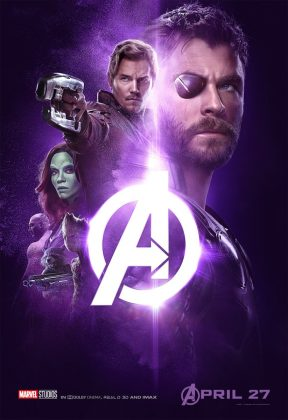 avengers infinity war poster thor star lord 288x420 - Los Personajes de Avengers: Infinity War