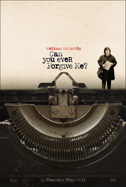 can you ever forgive me poster 433x645 - Trailer de Can You Ever Forgive Me? con Melissa McCarthy