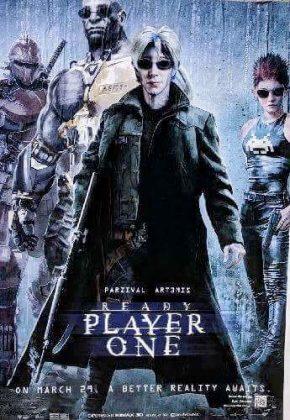 readyplayerone tributeposter matrix 290x420 - Tributo de Ready Player One a Películas Clásicas en Pósters