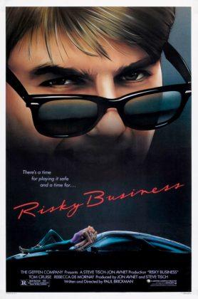 riskybusiness poster 278x420 - Tributo de Ready Player One a Películas Clásicas en Pósters